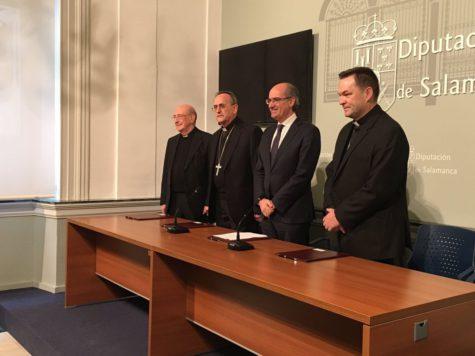 Convenio parroquias. Foto Diputación de Salamanca.