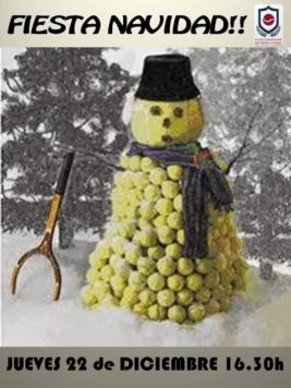 Cartel Navidad tenis padel
