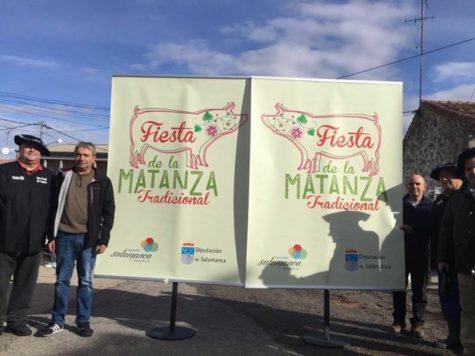 Celebración de la Matanza Tradicional en Puente del Congosto. Foto Diputación de Salamanca