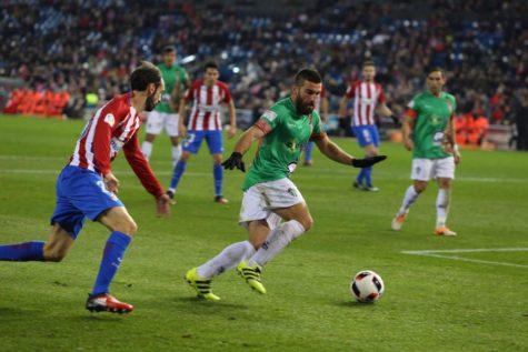 Partido de Copa entre el Atlético de Madrid y el C.D. Guijuelo en el Vicente Calderón. Foto C.D. Guijuelo