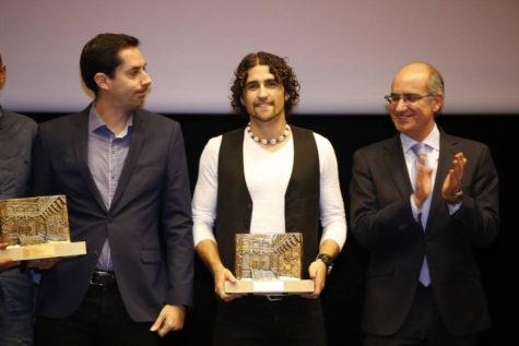 David Alejandro Premio Salina de Bronce. Foto N.C.