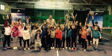 Último entrenamiento del año. Foto club de tenis.