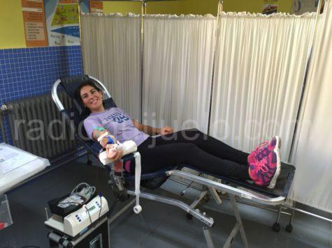 Una donante de sangre en Guijuelo