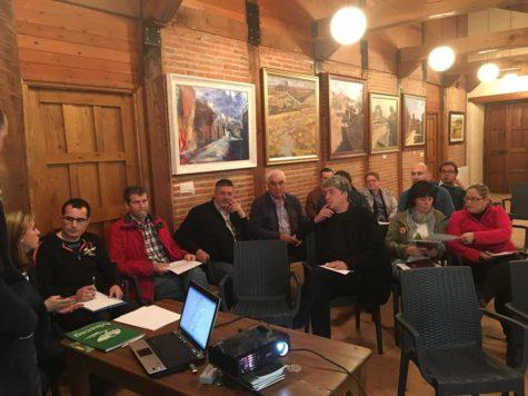 Reunión celebrada en Salvatierra de Tormes. Foto Adriss