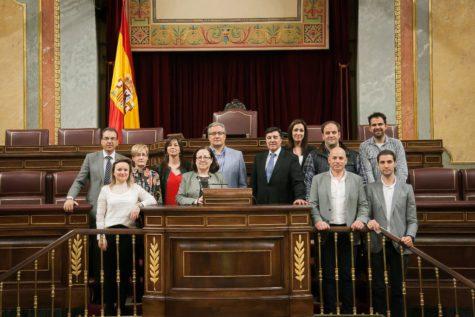 Miembros del PP de Guijuelo en el Congreso