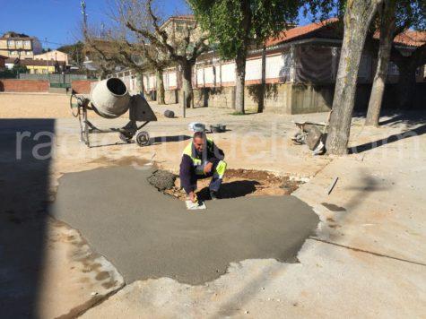 Mejoras en el patio del colegio Filiberto Villalobos