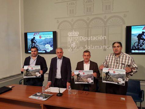 Presentación de la BTT Entresierras en la Diputación de Salamanca. Foto Diputación de Salamanca