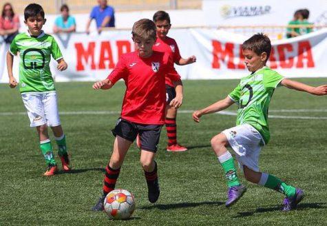 Un encuentro de fútbol base del C.D. Guijuelo. Foto Escuela Fútbol Guijuelo