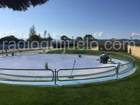 Trabajos de adecuación de las piscinas