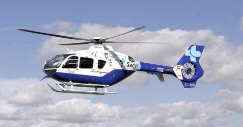 Helicóptero del Sacyl. Foto El Día de Valladolid