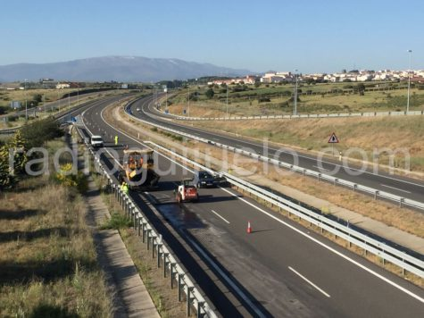 Obras en la Autovía A-66
