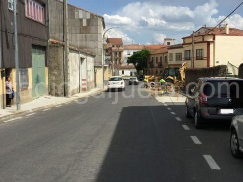 Obras en la carretera de Campillo.