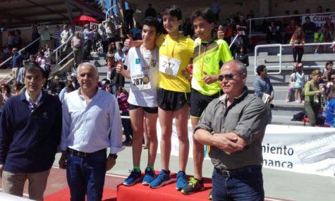 Javier Montero en el podium. Foto J.M.