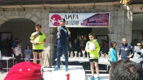 Javier Montero en el podium