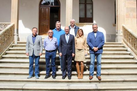 Representantes de los Grupos de Acción Local en La Salina. Foto Diputación de Salamanca