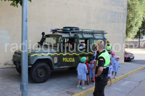 Visita de la Unidad Militar de Emergencias al Filiberto Villalobos