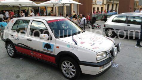 Coches participantes en el Rally Entresierras Histórico