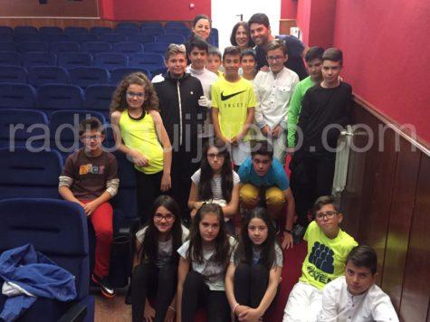 Alumnos de 6º de Primaria del Miguel de Cervantes
