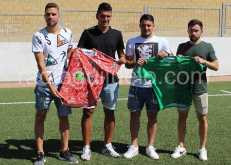 Juanra, Borja, Sergio Rivera y Eneko, presentados con la camiseta del CD Guijuelo