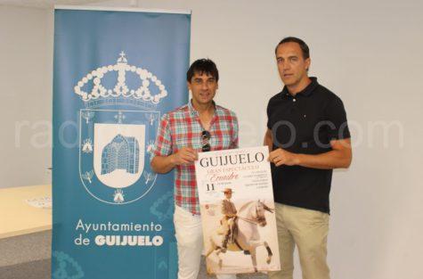 Presentación del espectáculo ecuestre en Guijuelo.