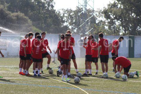 Un entrenamiento del CD Guijuelo.