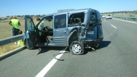 Accidente en Pizarral. Foto: 112.