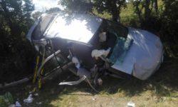 Accidente en la carretera de Frades. Foto: Bomberos Guijuelo.