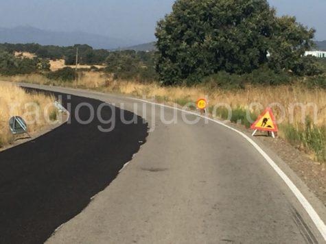 Obras en la carretera de Fuenterroble