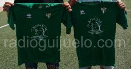 Camiseta del C.D.Guijuelo con la imagen de la empresa El Navazo S.L.