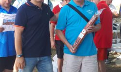 Emilio Moro, a la derecha, ganador del campeonato nacional individual de calva.
