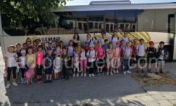 Niños de Semicolonias de excursión a Baños.