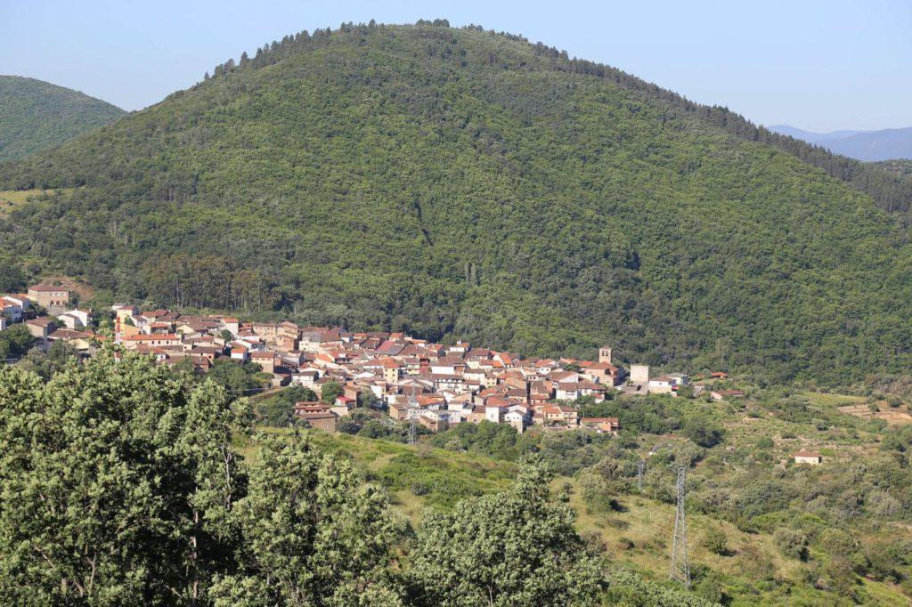 Vista de San Esteban de la Sierra. Foto Ayto San Esteban.