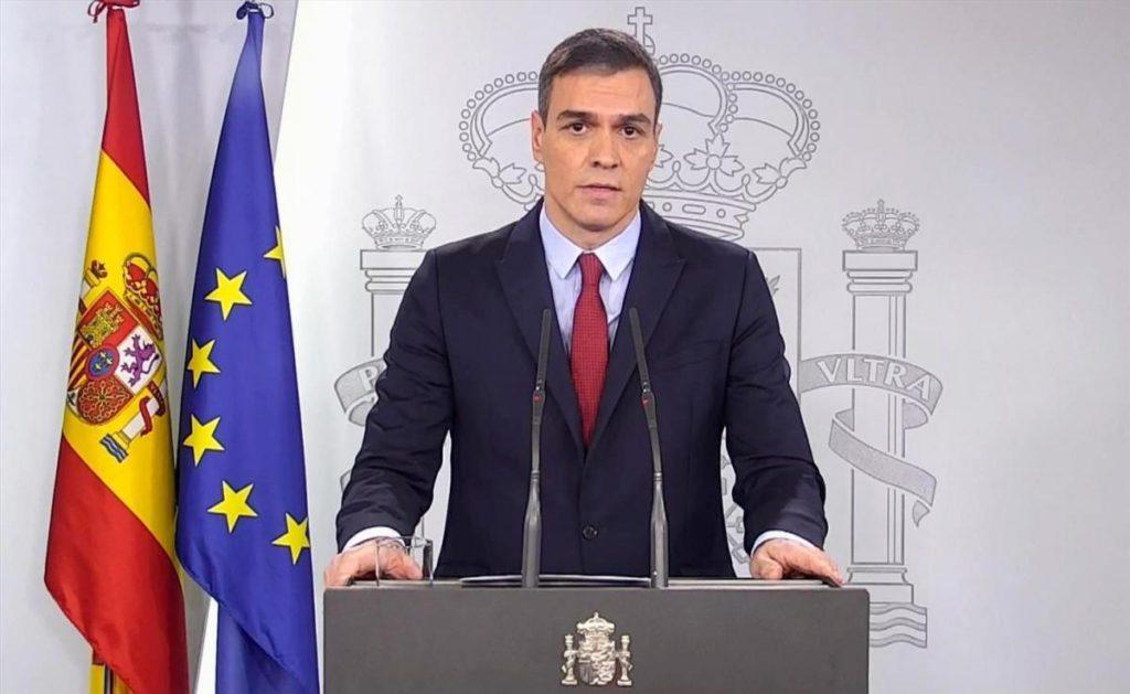 Pedro Sánchez en rueda de prensa. Foto Diario Córdoba.