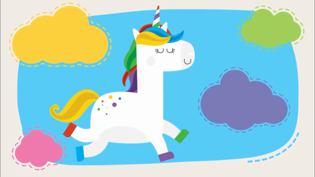 Cuento  'El unicornio arcoiris'