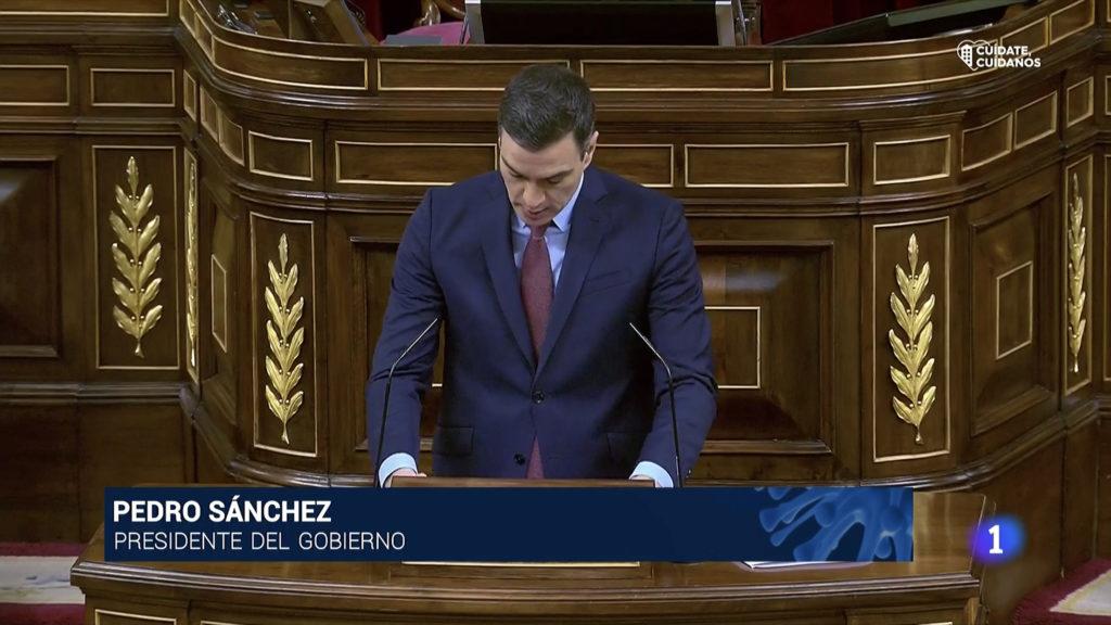 El presidente del Gobierno, Pedro Sánchez, comparece en el Congreso