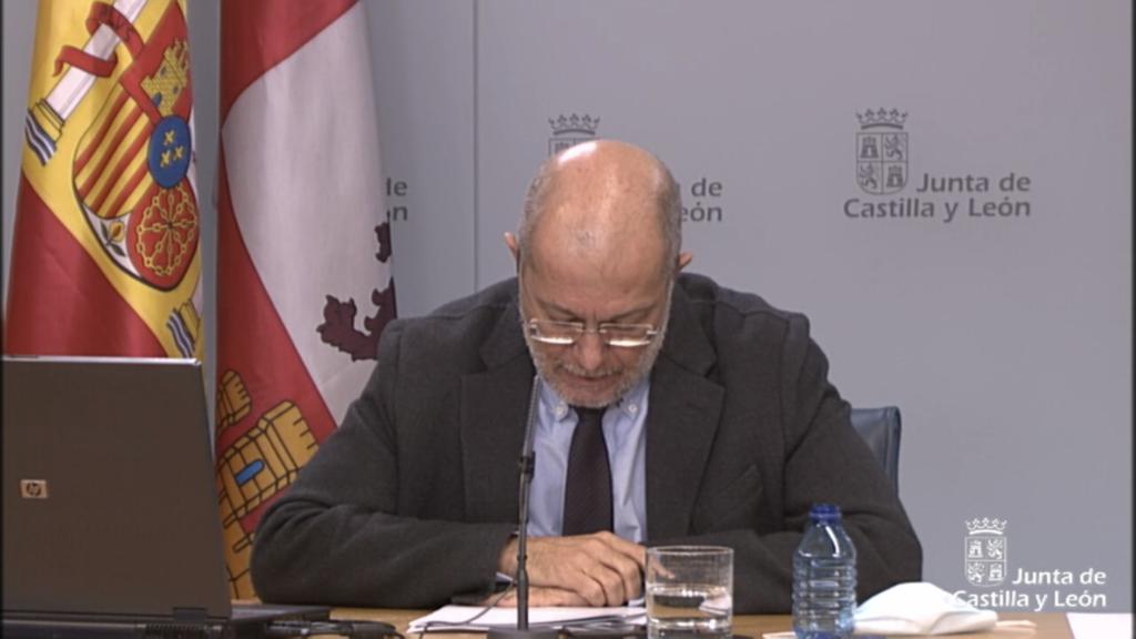Francisco Igea en la rueda de prensa