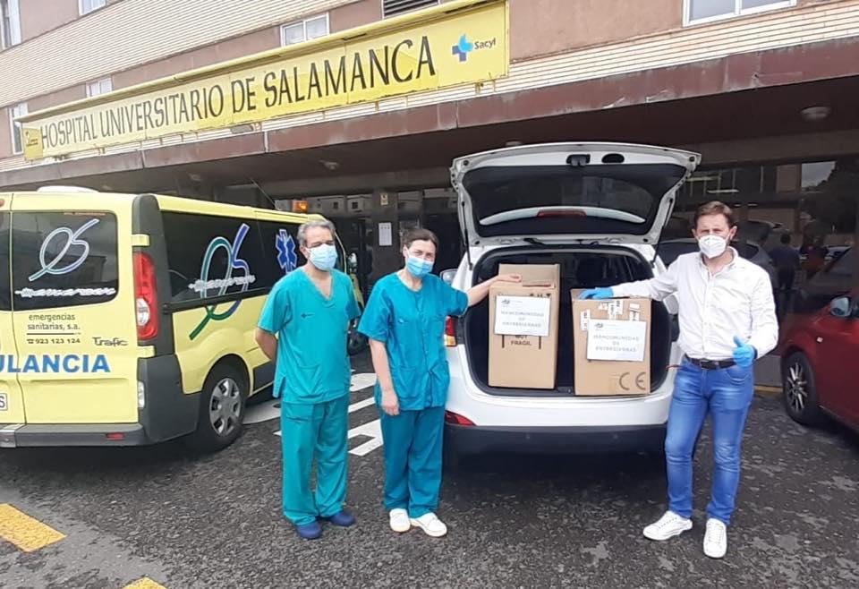 La Mancomunidad realiza una donación la Hospital de Salamanca. Foto.Mancomunidad.