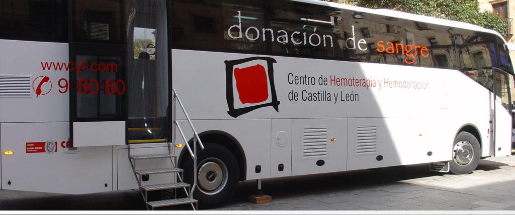 Autobús donantes de sangre. Foto donantesdesangresalamanca.es